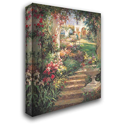 Ancient Garden Urn 45x60 Extra Large Gallery Wrapped Stretched Canvas Art by Oxley, Vail