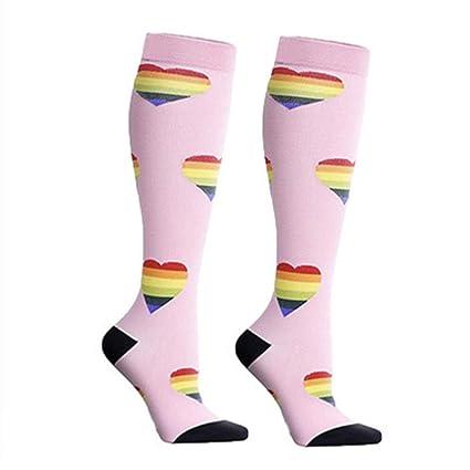 Lecimo Calcetines de CompresióN Personalizados para Mujeres: Mejore El Ciclo de Carrera, Atletas,