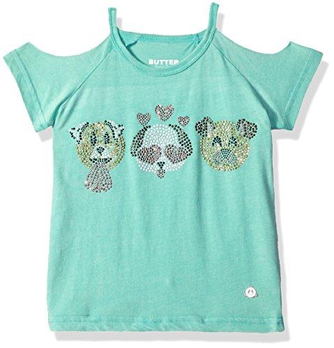 Butter Girls' Little Short Sleeve Fashion T-Shirt, Bermuda, 6