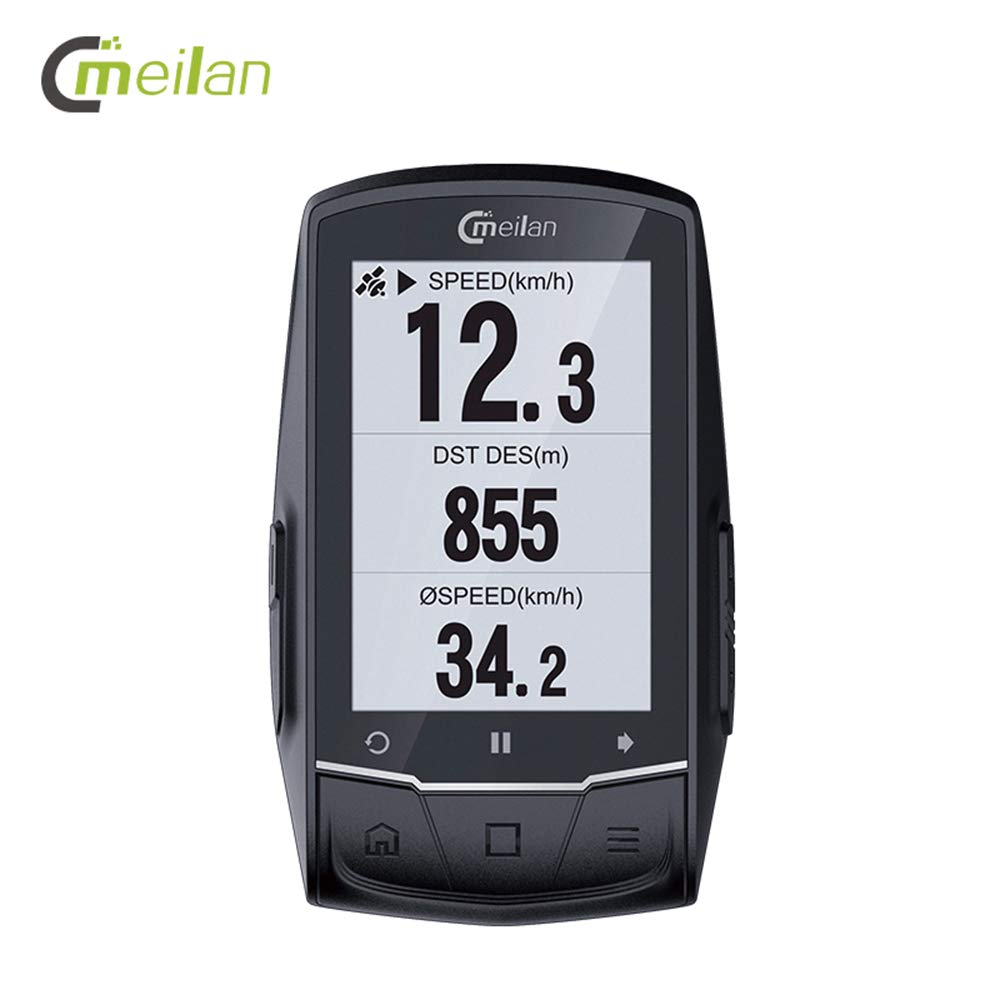 Godyluck M1 GPS Navigation Bike Computer Peedometer Candence Heart Rate 2.6'' BLE4.0 Cycle Computer by Godyluck