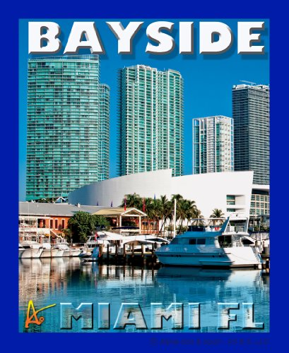 Best Ultimate Florida Bayside Day Travel Collectable Souvenir Patch - Destination Photo Souvenir Postcard Type Quality Photos Graphics Iron-On Patch - Bayside Miami Florida During the - Bayside Miami