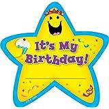 Creative Teaching Press Adhesive Badges - Birthday Star - 6 1/4 x 3 1/4 inch - Pack of 36