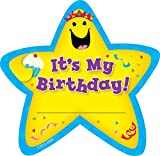 Creative Teaching Press Adhesive Badges - Birthday Star - 6 1/4 x 3 1/4 inch - Pack of 36