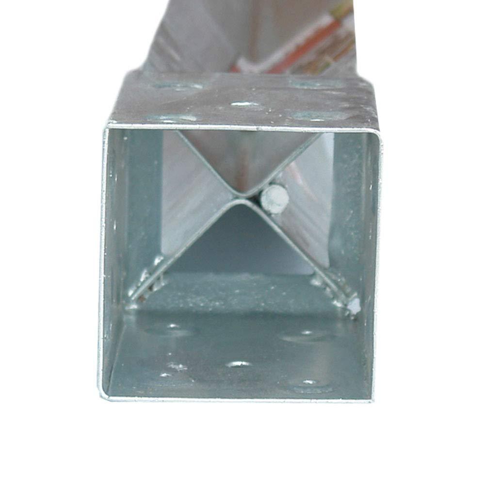 1 per Pack 3-1//2-inch Square, OZCO 30160 T4-850 OZ-Post Anchor