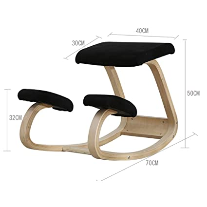 Fantastic Amazon Com Wood Kneeling Chair For Work Desk Balance Knee Pabps2019 Chair Design Images Pabps2019Com