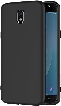 AICEK Funda Samsung Galaxy J7 2017, Negro Silicona Fundas para ...