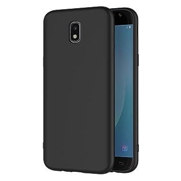 AICEK Funda Samsung Galaxy J7 2017, Negro Silicona Fundas para Samsung J7 2017 Carcasa Galaxy J7 2017 Negro Silicona Funda Case (5.5
