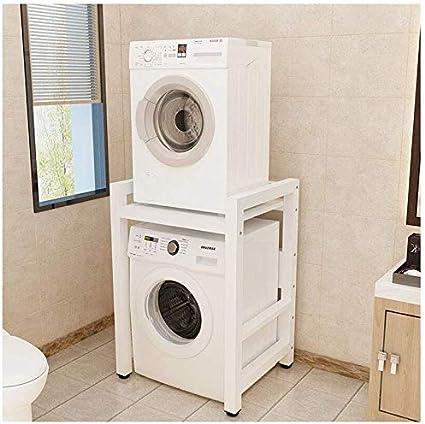 Cuisine /étag/ère de rangement rack Double-Couche Lave-linge S/èche-vaisselle 2 /étag/ères Stacking salle de bains Space Saver organisation,C