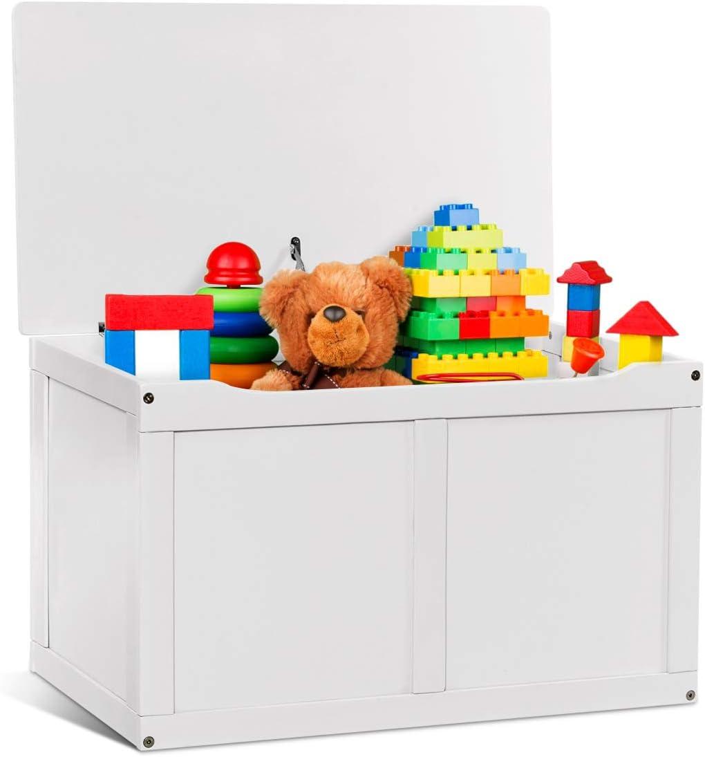 Costzon Wooden Kids Toy Storage Chest Organizer
