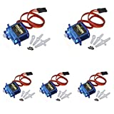 DIGOU 5 pcs TowerPro SG90 9G micro small servo motor RC Robot Helicopter for Helicopter Airplane Boat Controls