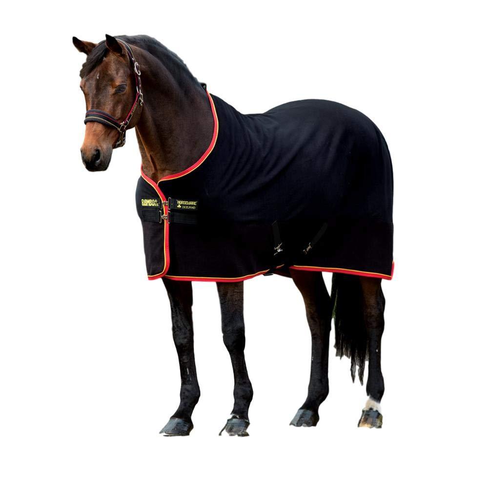Horseware, Rambo Softy Fleece, Black/Gold & Red, 72