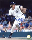 Mark The Bird Fidrych (D. 2009) Autographed/Original Signed 8x10 Color Photo Showing Him Pitching for the Detroit Tigers