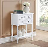 Convenience Concepts 501166W Hall Table, White
