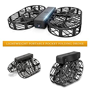 DWI D7 Protable Foldable Arms WIFI FPV Drone with 480P Camera Live Video RTF Helicopter for Kids Adults-Altitude Hold,One-Key Hover,Headless Mode,support HD shooting,VR Split-screen Mode from DWI