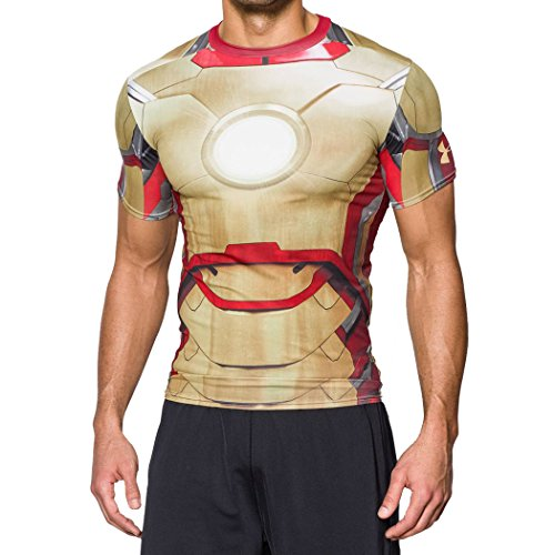 710 Rugby (Under Armour - Under Armour Alter Ego Tee Shirt - Iron Man - Gold -)
