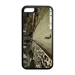 Drop ship customs Hot TV The Walking Dead Protective Design Cover Durable case for Cheap ipod touch 5 ipod touch 5 100% TPU black Case Custom Shop