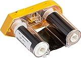 Brady M61-R6610 BMP61 Series Printer Ribbon R6600 Resin, 2'' Width x 75' Length, Black