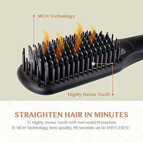 Hair Straightening Brush BearMoo High Dense MCH technology Based teeths