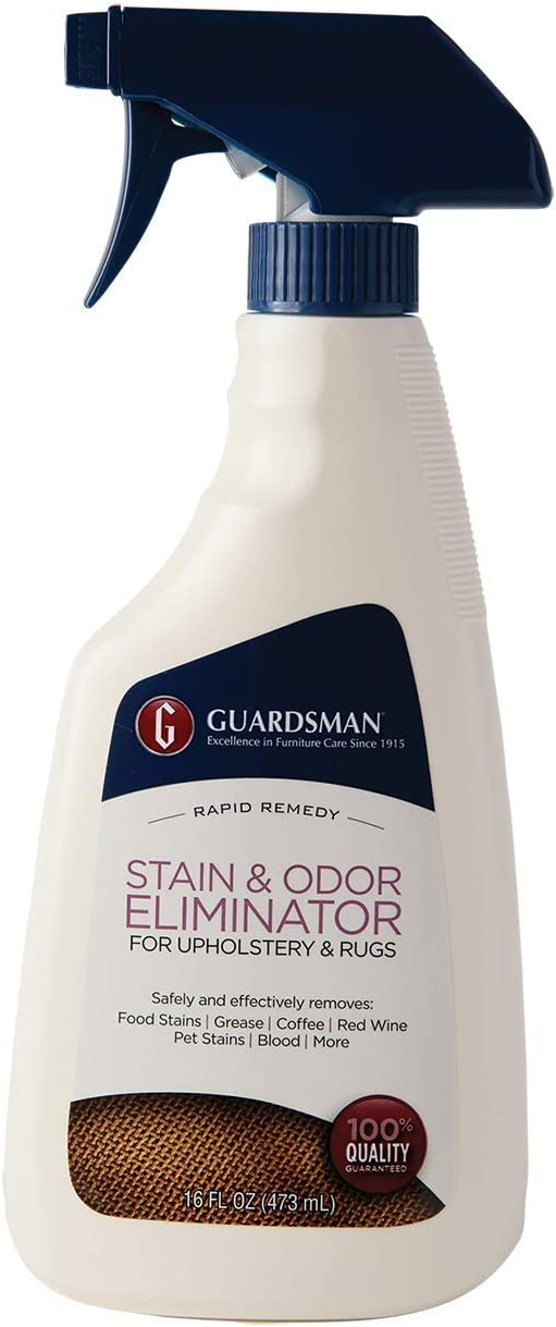 Guardsman Stain & Odor Eliminator for Fabric - 16 oz Spray - Removes Stains, Grease, Red Wine, Pet Stains - 462600