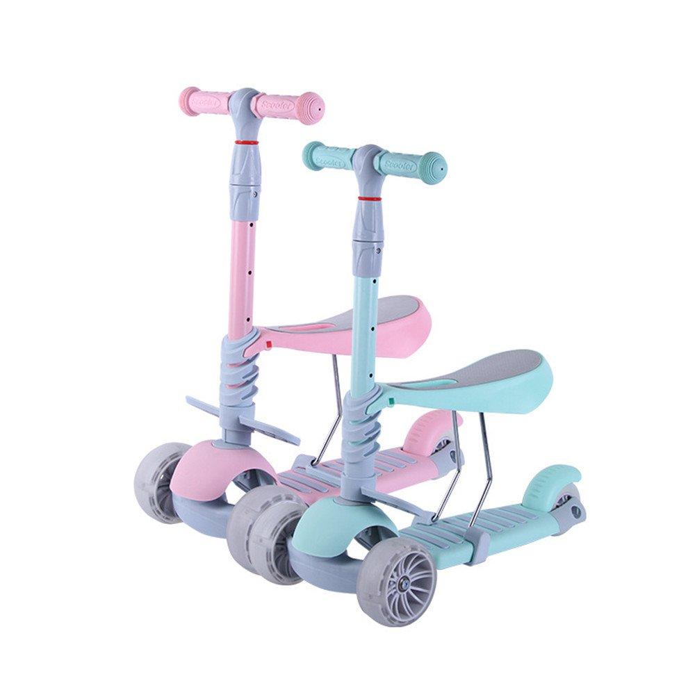 ミニスリーホイールキックスクーター調節可能なハイトスクーターを回転させるための簡単な滑り傾斜安全な小さな子供のための使いやすさ2 +安全性 +安全性 (Color : B07KLRTPQG Pink) Pink) B07KLRTPQG Pink, マリンショップ turibune:818900a9 --- grupocmq.com