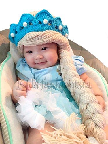 Disney Frozen Elsa Princess Knit Baby Girl Hat With Braids - Elsa Hat