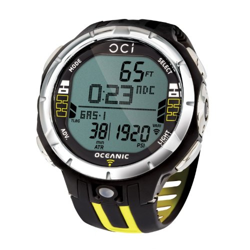 Oceanic OCi Wireless Dive Watch Computer - Watch Only For Scuba Diving - Yellow
