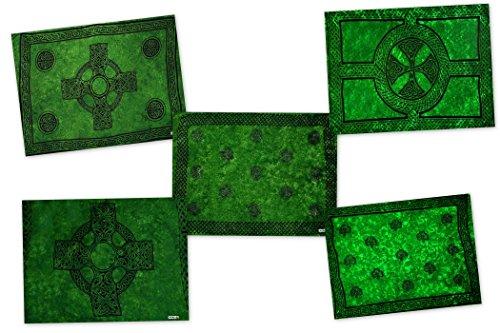1mundo pareos–Maceta suerte Grab bolsa de Celtic encubrimiento sarong 1–Pareo Verde