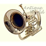 Antiques World Euphonium 3 Valves Shinning Flat Brass Along With Mouth Peice AWUSAMI 083