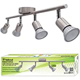 National Electronics LED ceiling spots GU10 incl. 3.5W 320lm LED bulbs double armed! (14 watt)