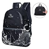 UNIQUEBELLA Lightweight Backpack Waterproof Foldable Ultralight Daypack 20L Water Resistant Collapasible Trekking Backpack for Hiking, Traveling, Camping,for Women, Men & Kids