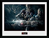 gears of war poster - Gears Of War Framed Art Print With Passe-Partout - 4, Landscape (16 x 12 inches)