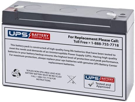 ADT Security 804208 6V 12Ah Replacement Battery