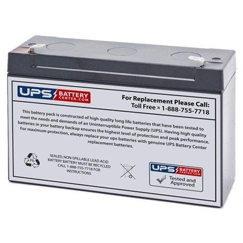 Global Yuasa ES12-6 6V 12Ah F1 Terminals SLA Battery Replacement - VRLA Battery UPS Battery Center ES12-6-12Ah-batt