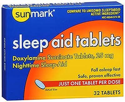Sunmark Sleep Aid, 25 mg, 32 tabs
