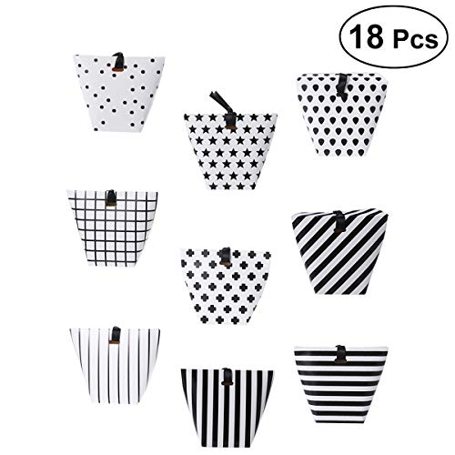 BESTOYARD 18Pcs Party Favor Candy Boxes Halloween Favors Candy Buffet Treat Boxes Birthday Gift Box Wedding Table Dessert Supplies