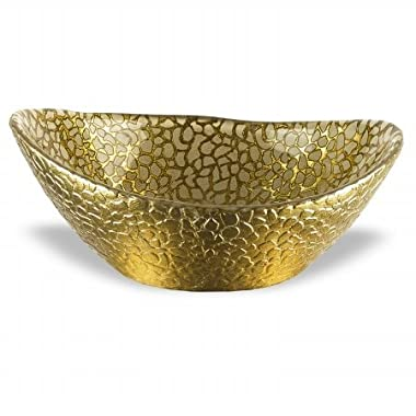 Badash Antique Gold Snakeskin Bowl, 6.3 by 5-Inch