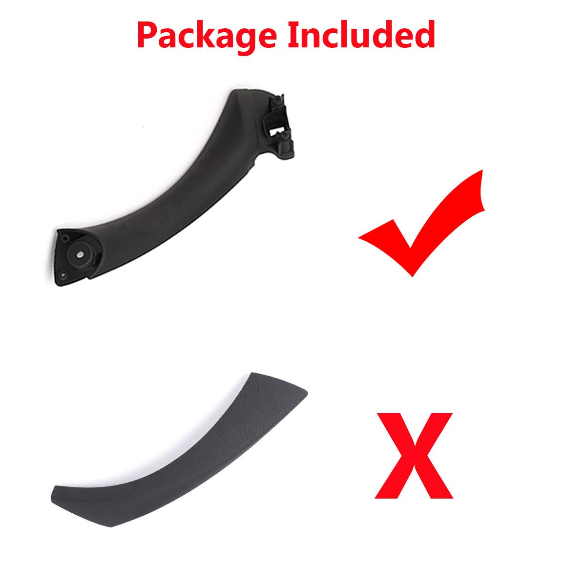 TTCR-II Door handle Outer Covers Compatible with BMW 3 Series E90 E91 Black Right Front//Rear Interior Passenger Side Door Handle Trim Fits: 323 325 328 330 335 2006-2011