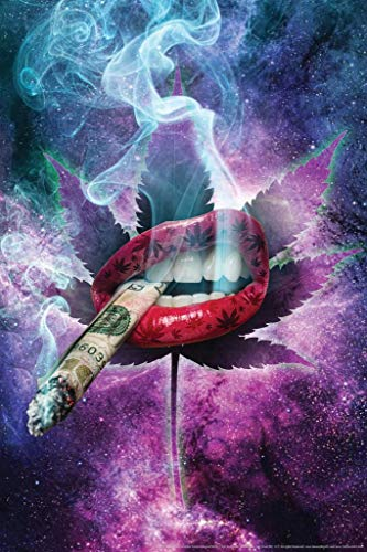 High As Space by Daveed Benito Smoking Marijuana Cool Huge Large Giant Poster Art 36×54