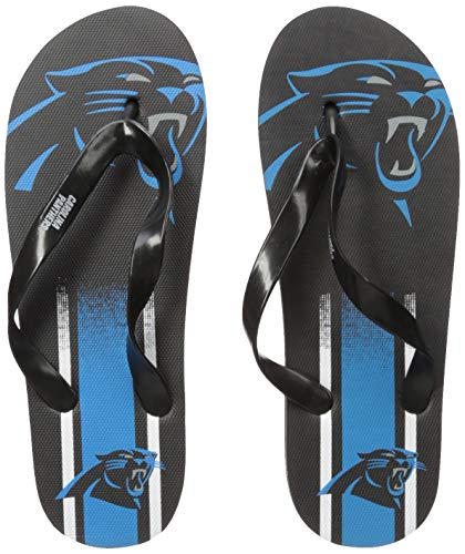 (NFL Carolina Panthers Unisex Gradient Big Logo FLIP FLOPCAROLINA Panthers Unisex Gradient Big Logo FLIP Flop Small, Team Color, S)