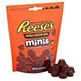 REESE'S Peanut Butter Cups Minis, 8 Ounce (Pack of 4)
