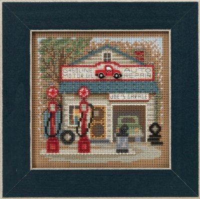 Joe's Garage Beaded Counted Cross Stitch Kit Mill Hill 2016