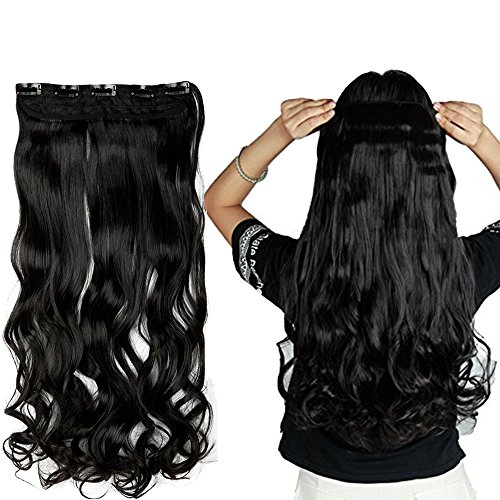 "S-noilite 24""/26"" Straight Curly 3/4 Full Head One Piece 5cl"