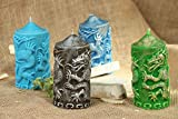 Handmade Decorative Wax Candle ''Two Dragons'' Home Decorating