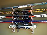 Bamboo Ski Rack for 4 or 5 Pairs of Skis - Grassracks Hallsteiner Pro
