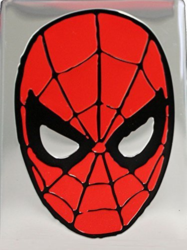 Magnet Marvel Comics Retro Spiderman Metal Magnet Mask, 2.5 x 3.5, Silver by Magnet