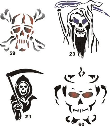 amazon com airbrush temporary tattoo stencil template set 31 23
