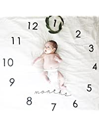 Baby Growth Milestone Blanket Photography Background Prop Photo Shoots Backdrop for Newborn Growing Infants Toddlers Baby Shower Gift - Clock