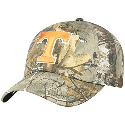 Top of the World NCAA Tennessee Volunteers Men's Real Tree Camo Adjustable Icon Hat, Real -
