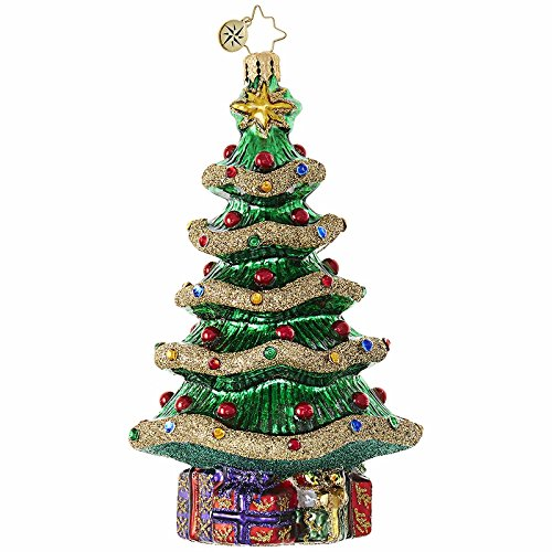 (Christopher Radko Garland Christmas Tree Glass Christmas Ornament - 5.5