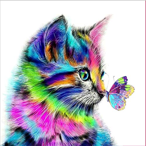 5d Diamond Painting kit for Adults Full Drill Paint with Diamonds DIY Diamond Art Painting Wall Decoration for Kids Diamond Art Kits for Adults Full Drill Cat 16inch